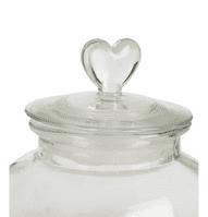 Loves Me Medium Glass Storage Jar   Funky Chunky Furniture